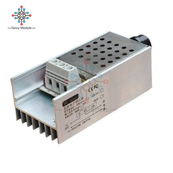 10000W SCR Sprieguma Regulators Mehānisko Ātruma regulators Reostats Termostats AC 110V, 220V Ar Heatsink 177872