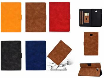 Tablet Case For Samsung Galaxy Tab 10.1 T580 SM-T580 T585 10.1 collu Smart Cover, Flip Stends, PU Leather Ādas Būtiska Korpusa Vāka